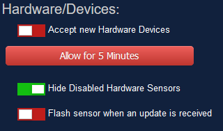 "Disable the ""Accept new Hardware Devices"" feature in Domoticz"